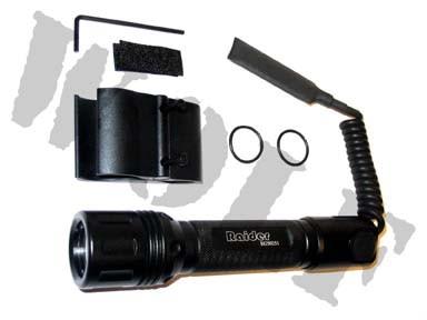Wolf Eyes 9HX Torch - Pressure Switch & Barrel Mount