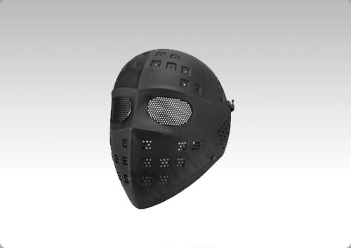 Wire Mesh Hockey Type Mask (Black)