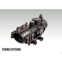 STRIKE SYSTEMS 4x32 Scope w. Red/Green Cross and Fibreoptics