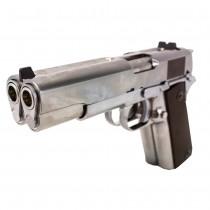 WE 1911 Dual Barrel GBB Pistol (Silver)