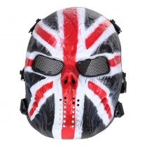 Big Foot Tactical Skull Airsoft Mask with Mesh Eyes (British Knight)