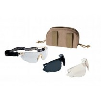 Bolle Tactical COMBAT Ballistic Glasses Kit - Tan