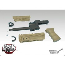 G&P AK47 Tactical Front Set with Grip - Sand