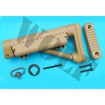 G&P M4 Marine Sand/TAN Battery Stock Shorty