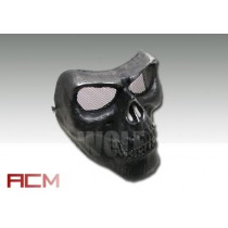 ACM Cacique Plastic Skull Mask Black