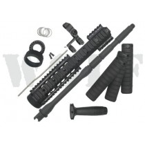 King Arms M4 Free Float MRE RAS Kit with Flip Up Sight