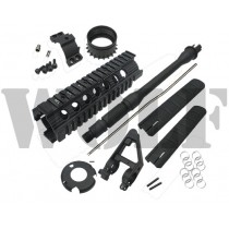 "King Arms 7"" Free Floating Rail System w/ CQB Barrel"