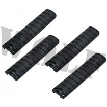 King Arms Rail Cover 156mm - Black (Set of 4)