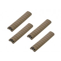 King Arms Rail Cover 156mm - Tan (Set of 4)