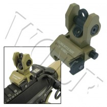 King Arms Rear Folding Battle Sight - Dark Earth