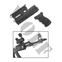 King Arms AK47S Railed Handguard & Grip V2 Black