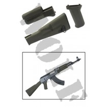 King Arms AK74M Handguard Grip Stock - OD