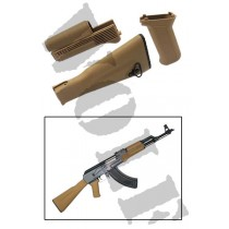 King Arms AK74M Handguard Grip Stock - Tan