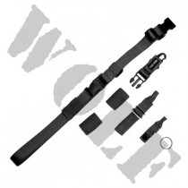 King Arms Tactical Single Point Sling - Black