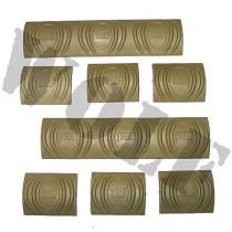 Tdi Arms Rail Cover Set 6 Short & 2 Long Khaki