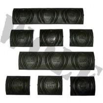 Tdi Arms Rail Cover Set 6 Short & 2 Long Black