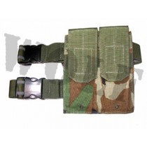 Guarder AK/P90 Tactical Thigh Magazine Pouch - Woodland Camo