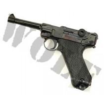Tanaka Luger P08 4 inch Midnight Black GBB Pistol