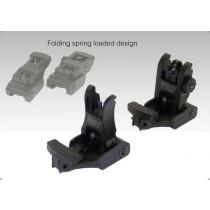 FMA ARMS Style Nylon Flip-Up Sights (Black)
