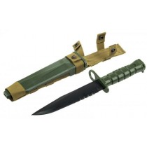 CCCP Airsoft M10 Rubber Bayonet Knife for M4/M16 Green