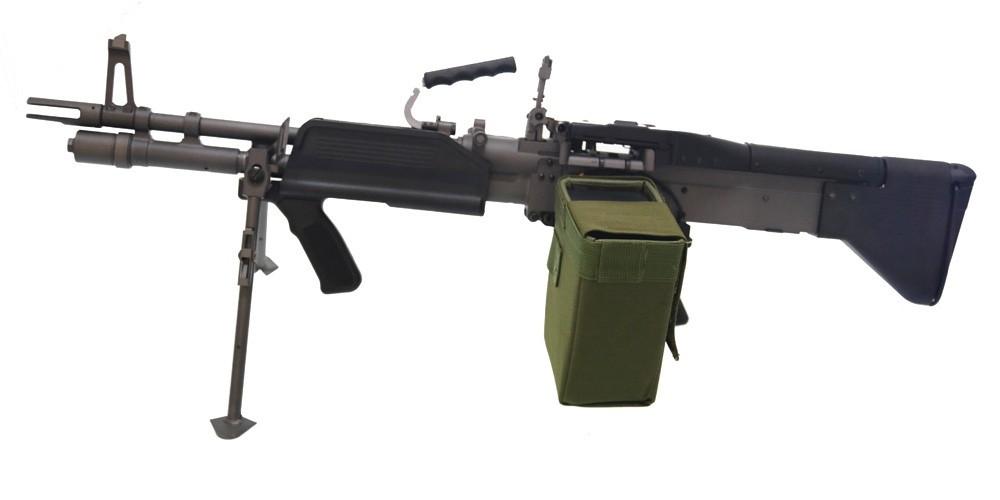 A Amp K Mk43 M60 Airsoft Light Machine Gun With Drum Magazine