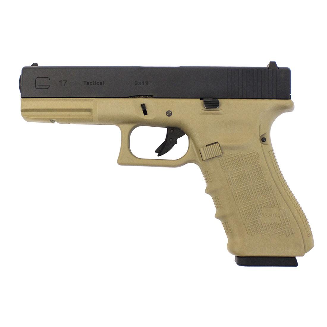 WE Glock 17 Gen 4 GBB Pistol (Tan)