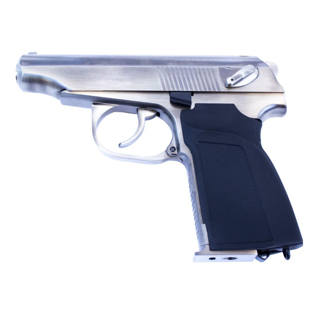 WE Makarov 654K GBB Pistol (Silver) w/ Silencer