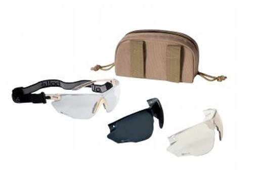 Bolle Tactical COMBAT Ballistic Glasses Kit - Tan