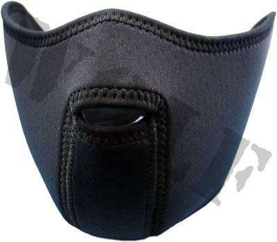 King Arms Neoprene Mask Half Face Black