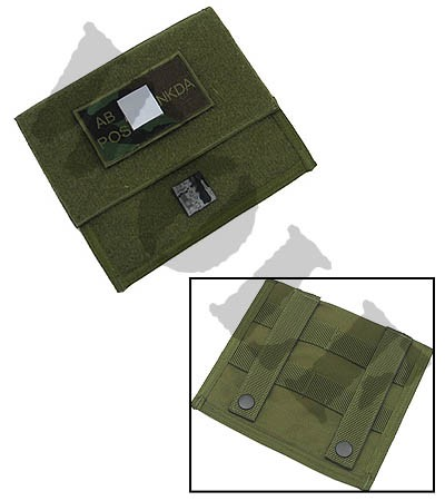 King Arms MPS Map Pouch -OD -Blood Type AB