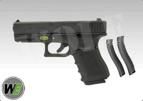 WE Glock 19 Gen 4 GBB Pistol (Black)