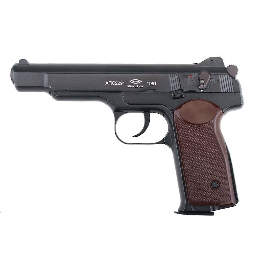 Gletcher APS-A Stechkin CO2 Blowback Airsoft Pistol