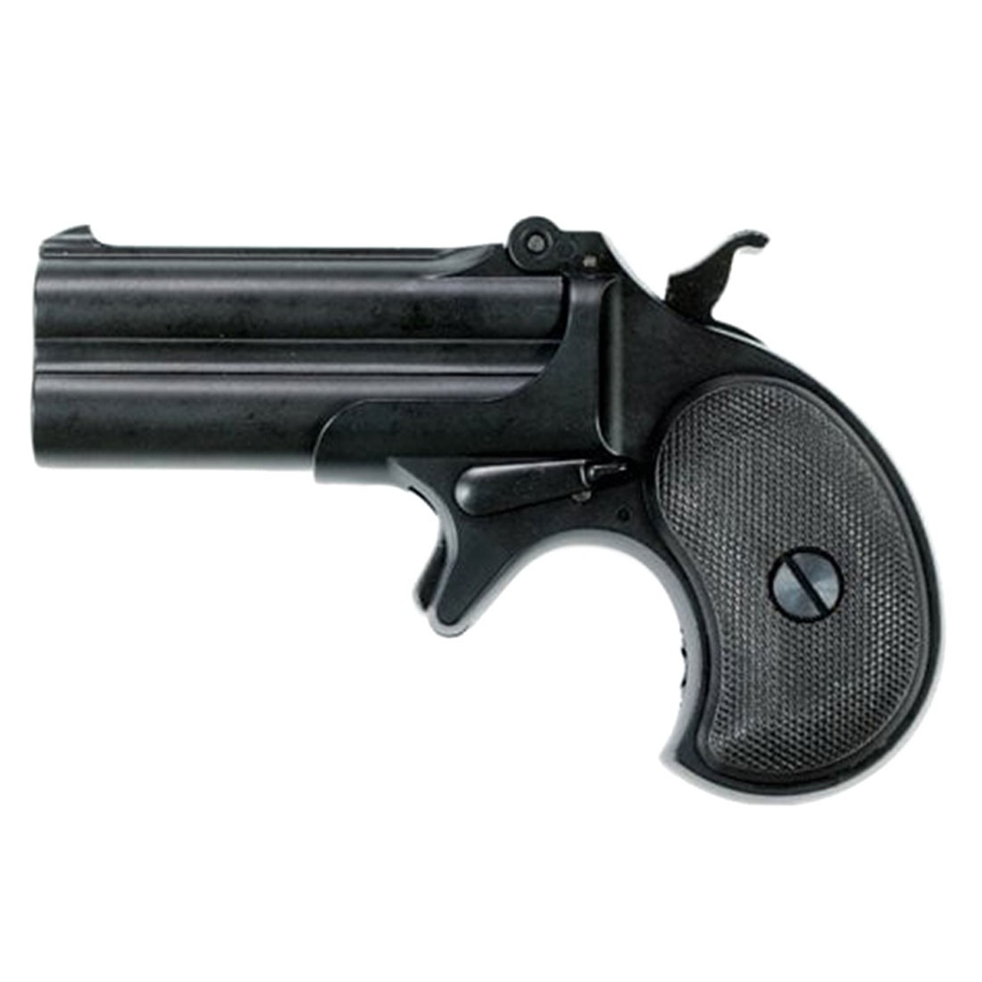 Maxtact Derringer Full Metal Gas Airsoft Double Barrel Pistol - Black