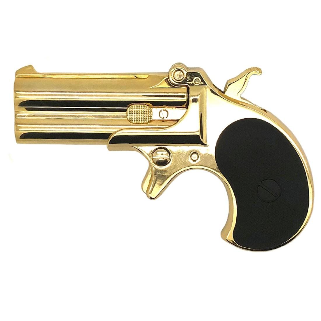 Maxtact Derringer Full Metal Gas Airsoft Double Barrel Pistol - Gold