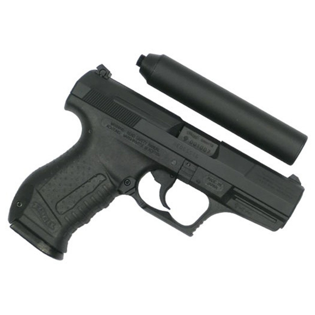 Maruzen Walther P99 Fixed Slide Gas Airsoft Pistol with Silencer