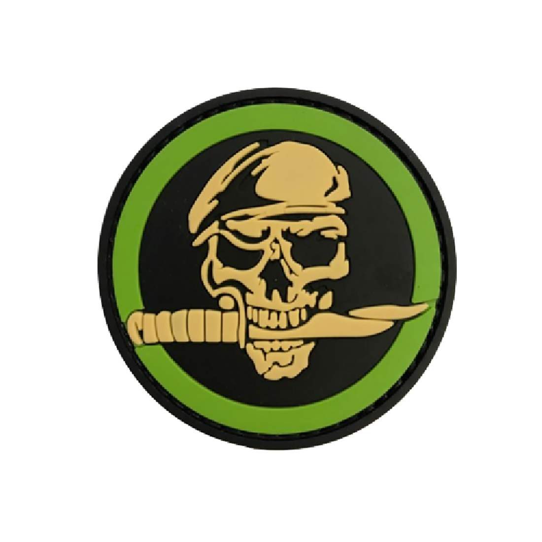 SKULL KNIFE Tactical Rubber Velcro Patches