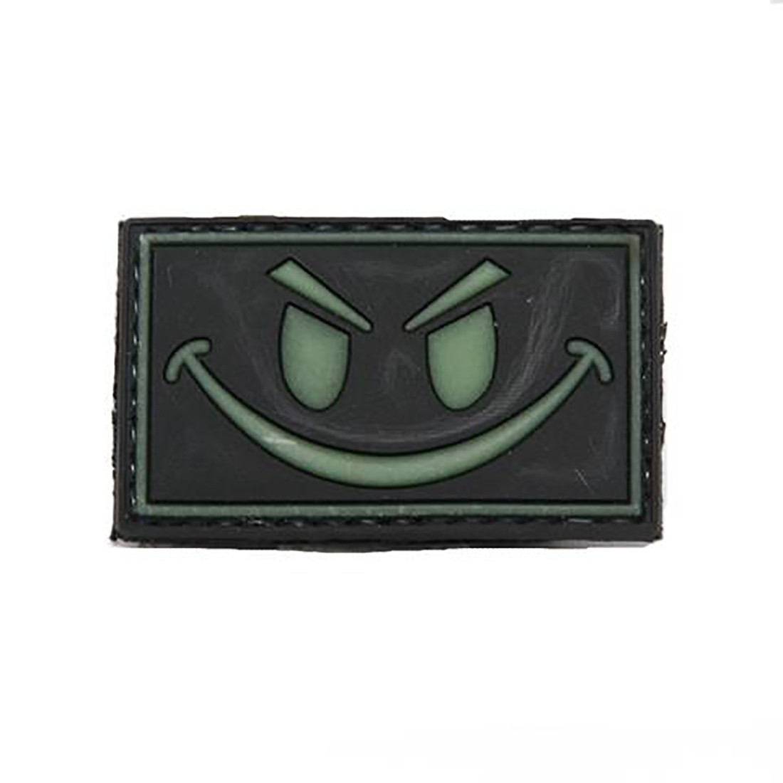 SMILEY GLOW Tactical Rubber Velcro Patches