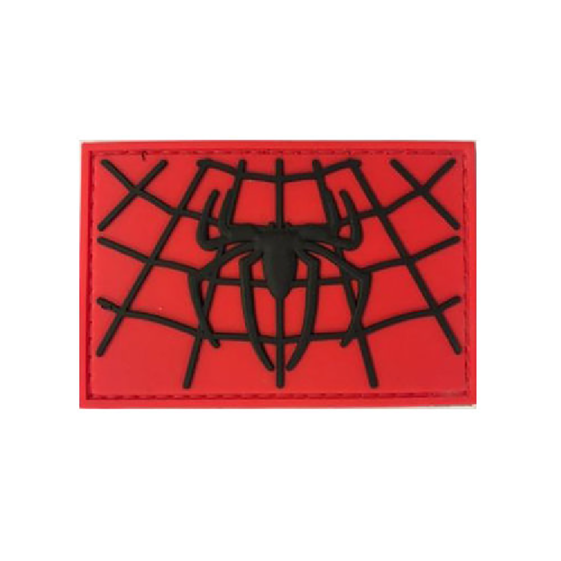 SPIDER-MAN (Red & BlACK) Tactical Rubber Velcro Patches