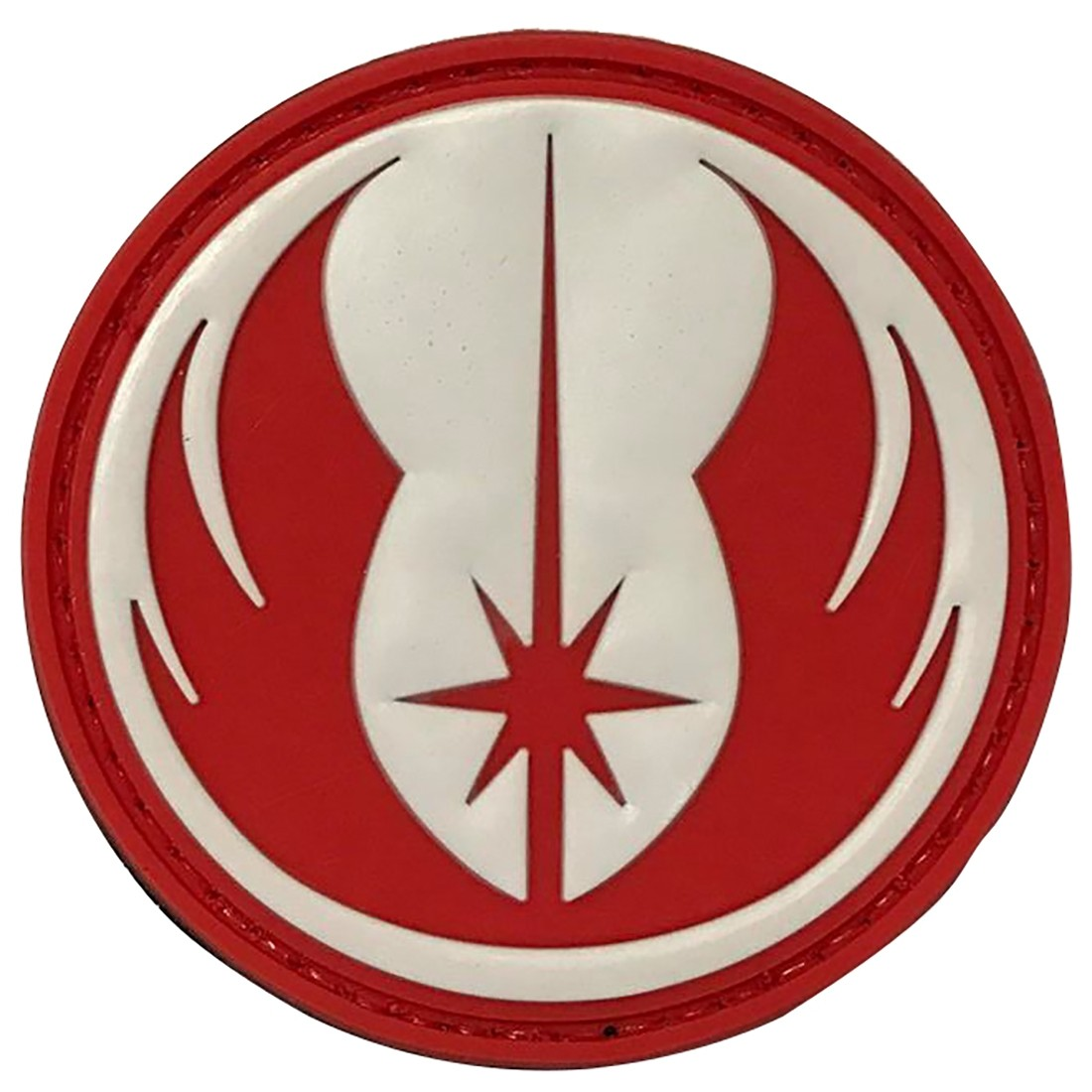 STAR WARS JEDI (Red & White) Tactical Rubber Velcro Patches