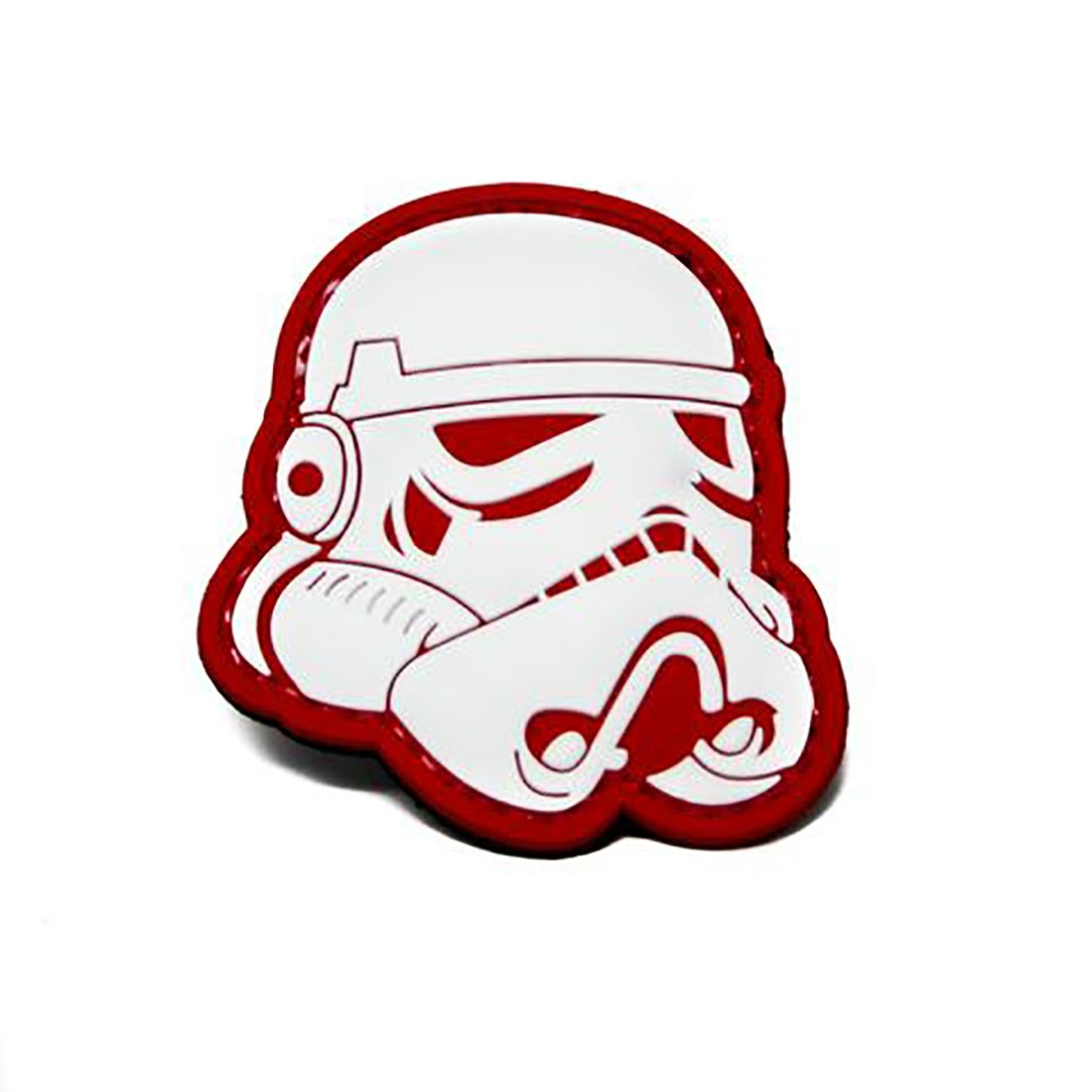 STAR WARS STORMTROOPER RED Tactical Rubber Velcro Patches