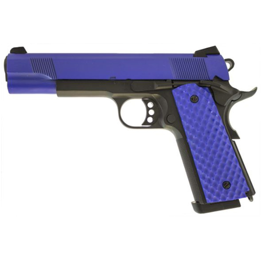 Raven MEU 1911 Dual Tone Airsoft Gas Blowback Pistol (Blue)