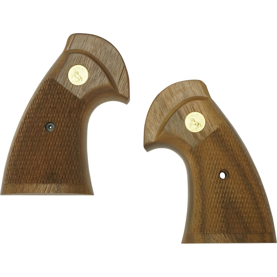 Tanaka American Walnut Oversized Checker Grip for Colt Python Revolvers