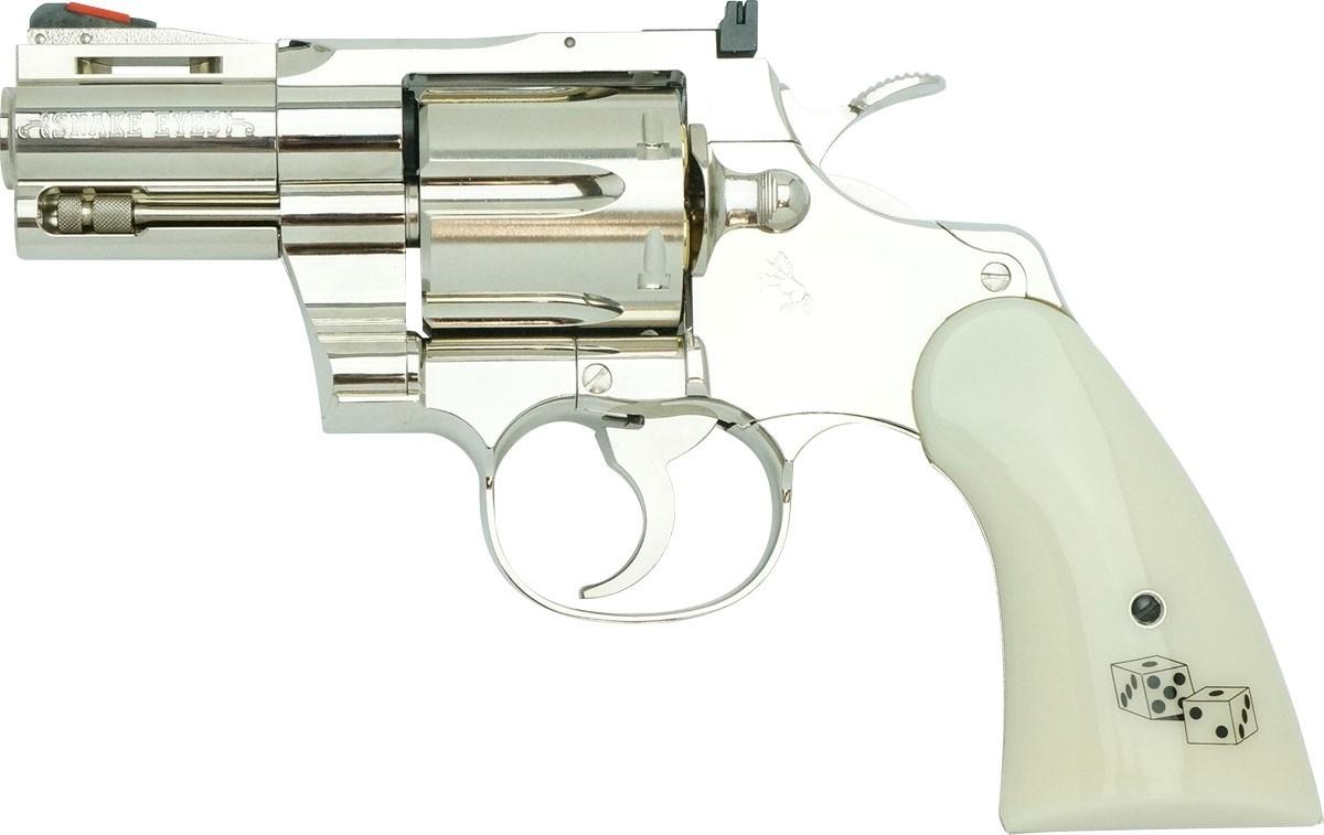 "Tanaka Colt Python Snake Eyes 2.5"" R-Model Stainless Airsoft Revolver - PRE-ORDER"