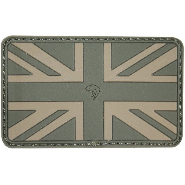 Viper Subdued Rubber Union Jack Patch - Green