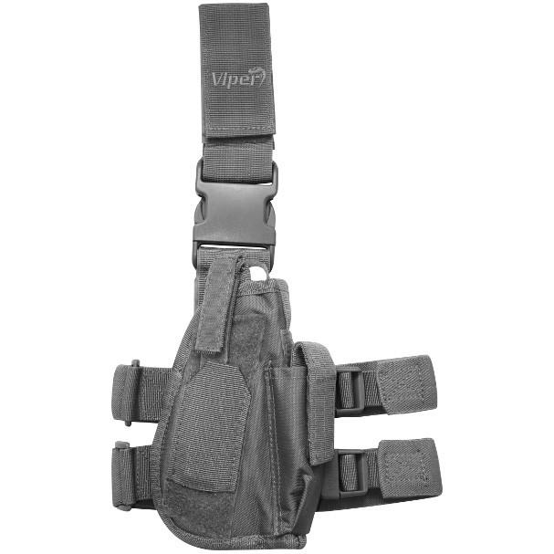 Viper Tactical Leg Holster Titanium Grey RH