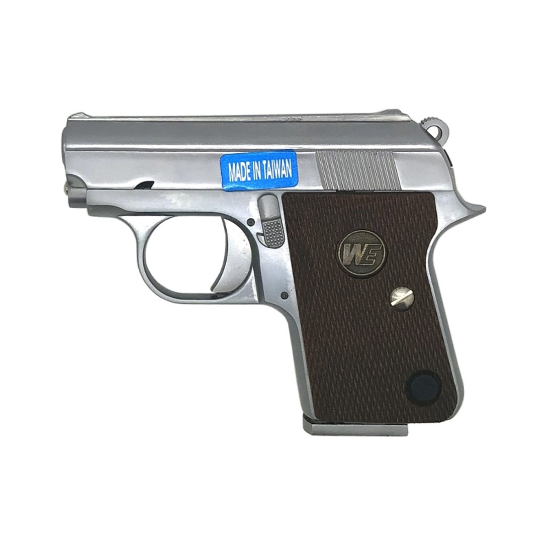 WE Colt 25 Auto CT25 Full Metal Gas Blowback Airsoft Pistol - Silver