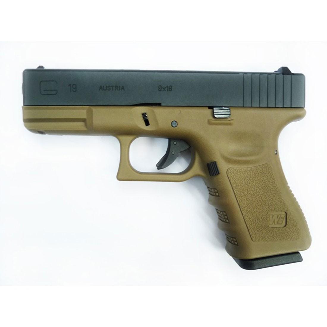 WE Glock 19 Gen 4 GBB Pistol (Tan)