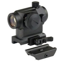 T1 Style Airsoft Red/Green Dot Scope with High QD Mount - Black