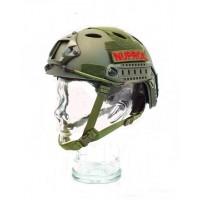 Nuprol Fast Railed Helmet Green