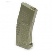 Ares Amoeba M4/M16 Airsoft AEG Midcap Magazine 140rd (Dark Earth) - Plastic Version